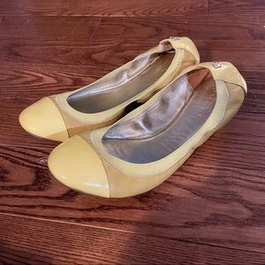 Coach yellow dalia ballet flats in size 7